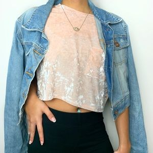 Crushed Velvet crop top💘